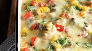 fontina chicken u0026 pasta bake recipe taste of home