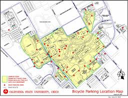 California State Map by California State University Chico Bike Parking Map Chico