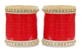 punjabi wedding chura buy muchmore metal crytal bridal chura choora bangle set for