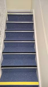 Nora Rubber Stair Treads by Polyflor Polysafe Vinyl Safety Non Slip Flooring Fitted To