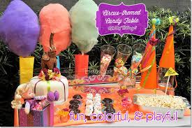 Candy Themed Party Decorations Decorate A Festive Circus Themed Dessert Table For A Birthday Party
