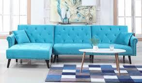 victoria velvet sectional futon w chaise sofamania com