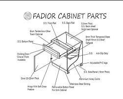 kitchen sink cabinet parts modern design luxury stainless steel kitchen cabinet china