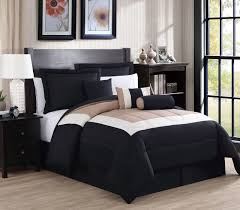11 piece rosslyn black teal bed in a bag set