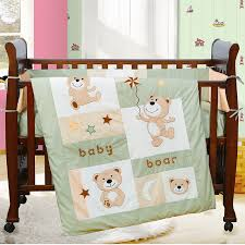 Crib Bedding Sets Unisex 7pcs Embroidered Baby Bedding Set Baby Bed Linen Baby Cot Jogo De