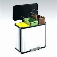 poubelle de tri selectif cuisine poubelle de tri cuisine songmics l poubelle de cuisine rsistante