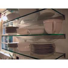 tempered glass shelves for kitchen cabinets wallscapes glacier 48 in w x 12 in d clear glass shelf