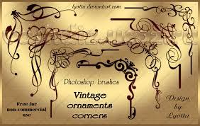 vintage ornaments corners photoshop brushes by lyotta on deviantart