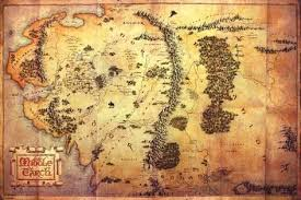 earth map uk the hobbit an journey map of middle earth prints