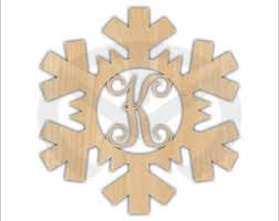 unfinished wood shamrock monogram door hanger laser cutout w