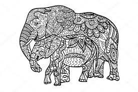 Coloriages éléphants de détente  Image vectorielle anaittsmigmail