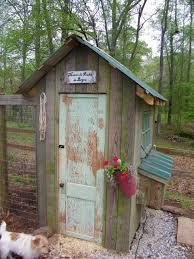 rustic trailer shed coop food truck garden structures paths