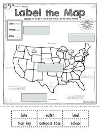 mapping label it first grade and kindergarten social studies