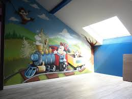 chambre bebe mickey gimus décoration chambre d enfant graffiti mickey tic et tac