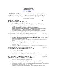 Sample Real Estate Resume Resume Building Manager Resume