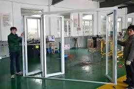 Bi Fold Glass Doors Exterior Cost Folding Glass Exterior Doors Black Polished Steel Frame Bi Fold