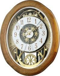rhythm clocks musical motion wall clocks official upscale home decor