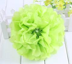 mint green tissue paper 14 35 cm decoration mariage pompom flores artificiales mint