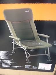chub vantage long leg recliner carp fishing low chair with arms