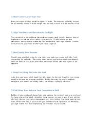 What Size Font To Use For Resume 5 Things People Reading Your Resume Wish You