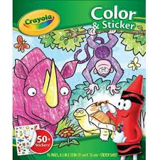 crayola color u0027n sticker book walmart