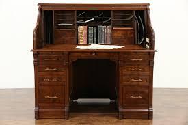 Roll Top Antique Desk Sold Victorian 1885 Antique Walnut U0026 Burl Antique S Curve Roll