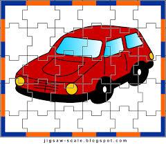 printable jigsaw puzzle for kids car jigsaw