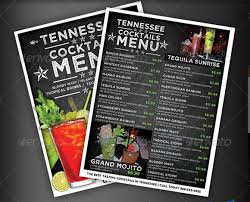 flyer menu template cocktail menu templates 54 free psd eps documents