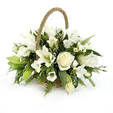 basket arrangements and ivory wicker basket arrangement flowers ii