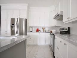 fair white kitchen cabinets with white marble countertops lovely