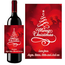 personalised christmas prosecco wine bottle label 022
