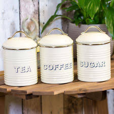 vintage retro kitchen canisters enamel vintage retro kitchen canisters jars ebay