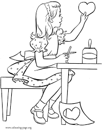 coloring pages of a heart pretty coloring pages for girls coloring home