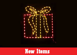 lighted outdoor displays led wire frame yard