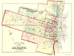 Washington New York Map by Old City Map Albany New York Outline And Index 1876