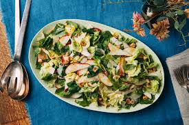 pescatarian thanksgiving recipes escarole pear parmesan and basil leaf salad recipe epicurious com