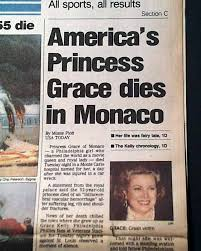 grace kelly killed in car accident rarenewspapers com