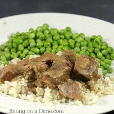 Need A Dinner Idea Easy Crockpot Beef Tips And Rice Eating On A Dime