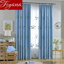 rainbow curtains embroidered voile kids girls room bedroom window