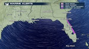 Fl East Coast Map Strong Winds Lead To High Surf For Florida Weathernation