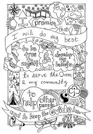 uk guide promise colouring sheet created by emyb emy buxton