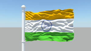 Flag If India Indian Flag 3d Cgtrader