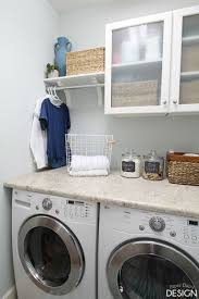 Shelf With Clothes Rod Laundry Room Makeover Laundry Room Organization