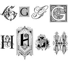 ornamental letters graphics decoratie ideeen