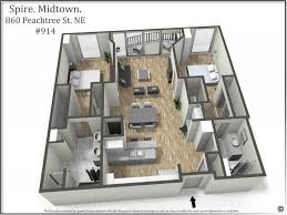 most popular 2 bedroom layout in the iconic spire building