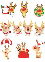 christmas reindeer clipart vector free