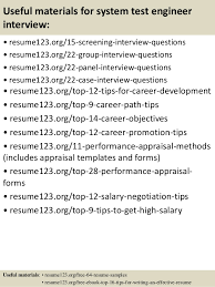 Test Engineer Sample Resume by Top 8 System Test Engineer Resume Samples