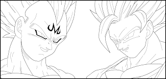 majin vegeta coloring pages dragon ball coloring pages dragon