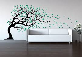 tree wall decal wind blowing wall sticker decal baby decal zoom