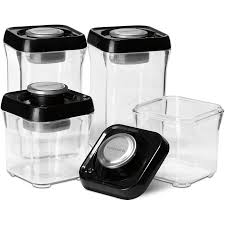 black canister sets for kitchen shop cuisinart 4 piece plastic food storage container at lowes com
